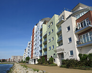 Apartment buildings in Poole near Sandbanks